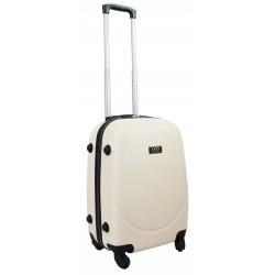 Mažas plastikinis lagaminas Gravitt 310-M23 Kreminė spalva