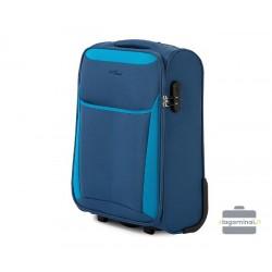 Mažas medžiaginis lagaminas Vip Travel V25-3S-231 Mėlynas/šviesiai mėlynas