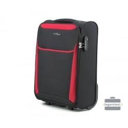 Mažas medžiaginis lagaminas Vip Travel V25-3S-231 Juodas/raudonas