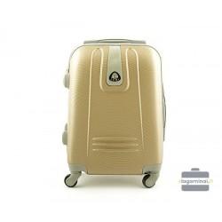 Mažas plastikinis lagaminas Lumi 188-M Šampaninė spalva