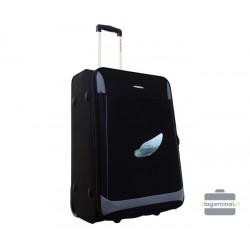 Vidutinis medžiaginis lagaminas Decent Air 6130-V Juodas/pilkas