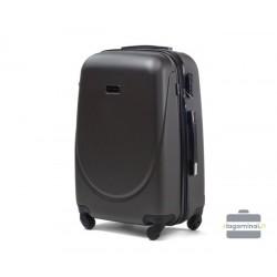 Mažas plastikinis lagaminas Gravitt 606-M Tamsiai pilkas