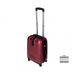 Mažas plastikinis lagaminas Szyk 168-M Bordo spalva