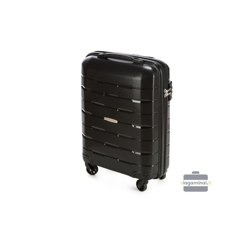 Mažas plastikinis lagaminas Wittchen 56-3T-721 Juodas