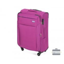 Vidutinis medžiaginis Lagaminas Vip Travel V25-3S-222-V Vyšninė spalva