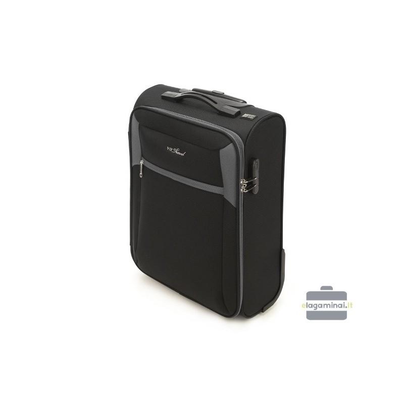 Mažas medžiaginis lagaminas Vip Travel V25-3S-231 Juodas/pilkas