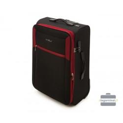 Vidutinis medžiaginis lagaminas Vip Travel V25-3S-232 Juodas/raudonas