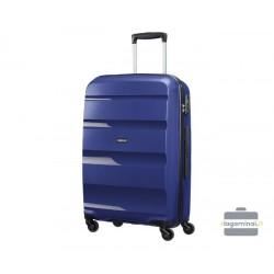 Vidutinis plastikinis lagaminas American Tourister Bon Air V Mėlynas