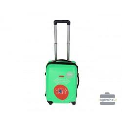 Mažas plastikinis lagaminas Gravitt 310-M Žalias