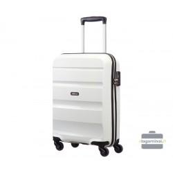 Mažas plastikinis lagaminas American Tourister Bon Air M Baltas