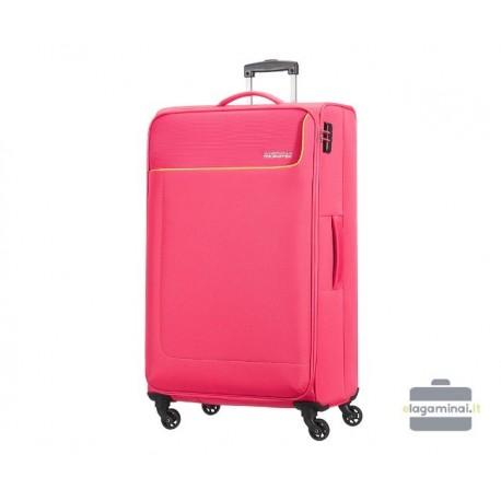 Didelis medžiaginis lagaminas American Tourister Funshine D Rožinis