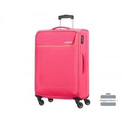 Vidutinis medžiaginis lagaminas American Tourister Funshine V Rožinis