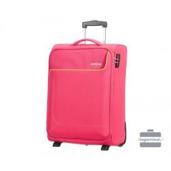 Mažas medžiaginis lagaminas American Tourister Funshine M Rožinis