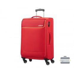 Vidutinis medžiaginis lagaminas American Tourister Funshine V Raudonas