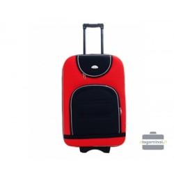 Vidutinis medžiaginis lagaminas Deli 801-V Raudonas/juodas