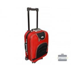 Mažas medžiaginis lagaminas Deli 801-M Raudonas/juodas