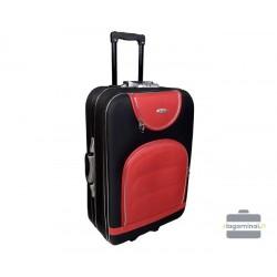 Vidutinis medžiaginis lagaminas Deli 801-V Tamsiai mėlynas/raudonas