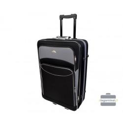 Didelis medžiaginis lagaminas Deli 101-D Juodas/pilkas