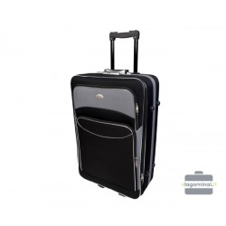 Vidutinis medžiaginis lagaminas Deli 101-V Juodas/pilkas