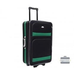 Didelis medžiaginis lagaminas Deli 901-D Juodas/žalias