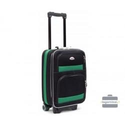Mažas medžiaginis lagaminas Deli 901-M Juodas/žalias