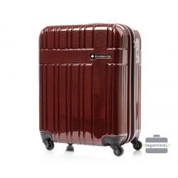 Mažas plastikinis lagaminas Swissbags Compass-M Bordo spalva