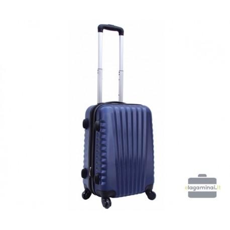 Mažas plastikinis lagaminas Szyk 888-M Mėlynas