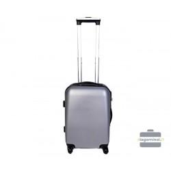 Mažas plastikinis lagaminas Szyk 866-M Sidabro spalva