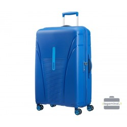 Didelis plastikinis lagaminas American Tourister Skytracer D Mėlynas
