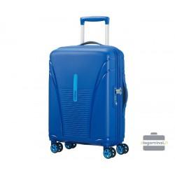 Mažas plastikinis lagaminas American Tourister Skytracer M Mėlynas