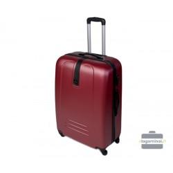 Didelis plastikinis lagaminas Szyk 168-D Tamsiai raudonas