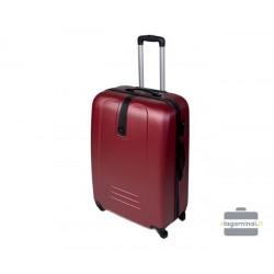 Vidutinis plastikinis lagaminas Szyk 168-V Tamsiai raudonas