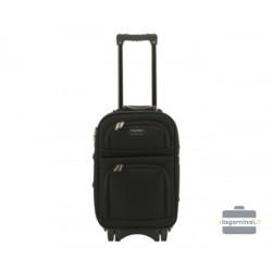Mažas medžiaginis lagaminas Bagia Budapest-M Juodas