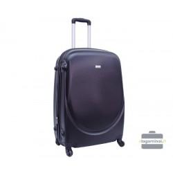 Vidutinis plastikinis lagaminas Szyk 606-V juodas