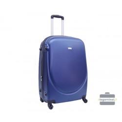 Vidutinis plastikinis lagaminas Szyk 606-V Tamsiai mėlynas
