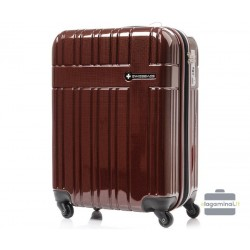 Vidutinis plastikinis lagaminas Swissbags Compass-V Bordo spalva