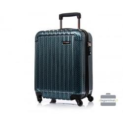 Vidutinis plastikinis lagaminas Swissbags Q-Box-V Mėlynas