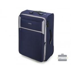 Didelis medžiaginis lagaminas Vip Travel V25-3S-233 Tamsiai mėlynas/pilkas