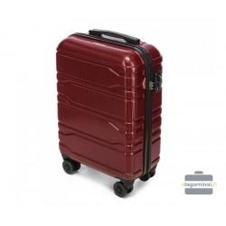 Mažas plastikinis lagaminas Wittchen 56-3P-981 Bordo spalva