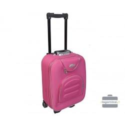 Mažas medžiaginis lagaminas Deli 801-M Rožinis
