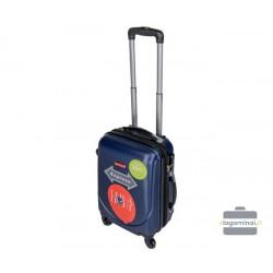 Mažas plastikinis lagaminas Gravitt 310-M Raudonas
