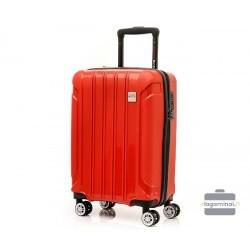 Mažas plastikinis lagaminas Swissbags Tourist II M Raudonas
