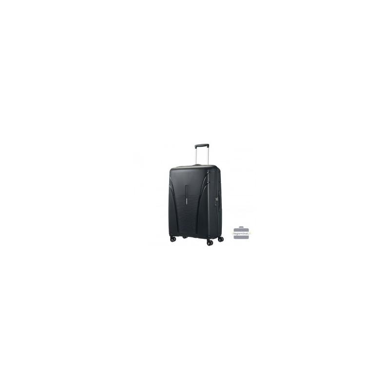 Labai didelis plastikinis lagaminas American Tourister Skytracer LD Juodas