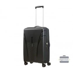 Vidutinis plastikinis lagaminas American Tourister Skytracer V Juodas