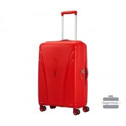Vidutinis plastikinis lagaminas American Tourister Skytracer V Raudonas