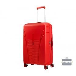 Didelis plastikinis lagaminas American Tourister Skytracer D Raudonas