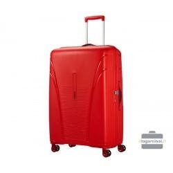 Labai didelis plastikinis lagaminas American Tourister Skytracer LD Raudonas