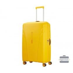 Didelis plastikinis lagaminas American Tourister Skytracer D Geltonas