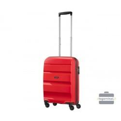 Mažas plastikinis lagaminas American Tourister Bon Air M Raudonas