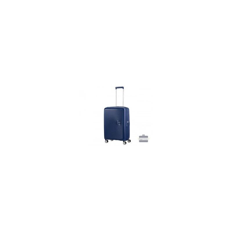 Vidutinis lagaminas American Tourister Soundbox V Tamsiai mėlynas